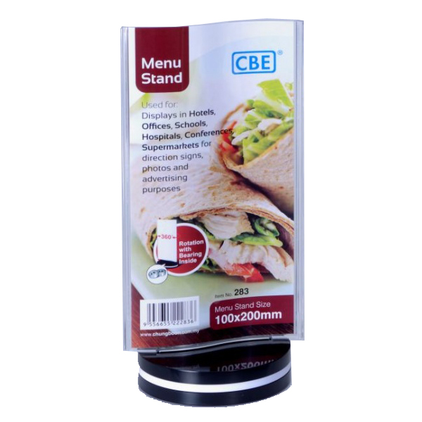 CBE 283 Menu Stand Curved Rotating Type