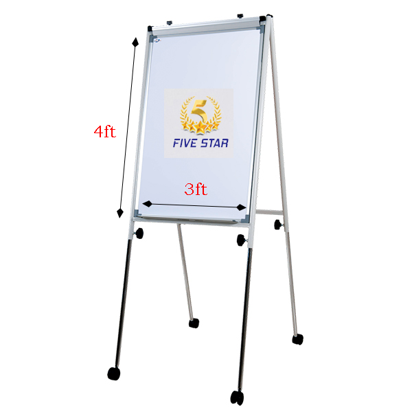 Writebest Economy Flip Chart 3ft x 4ft Magnet with Roller